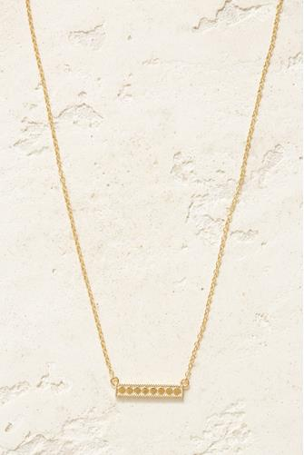 Gold Medium Bar Necklace GOLD
