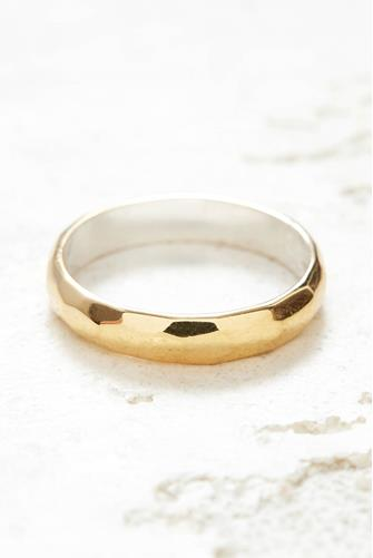 Gold Hammered Stacking Ring GOLD