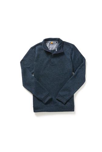 Marled Sweater Fleece 1/4 Zip Pullover NAVY