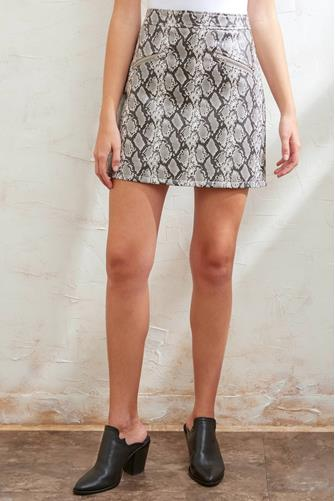 Vegan Snake Mini Skirt MULTI