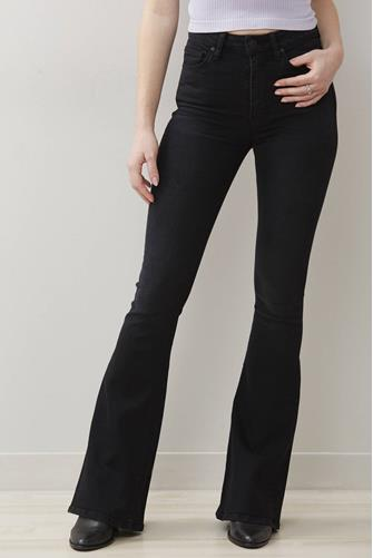 Holly Hi Rise Flare Jean in High Hopes BLACK