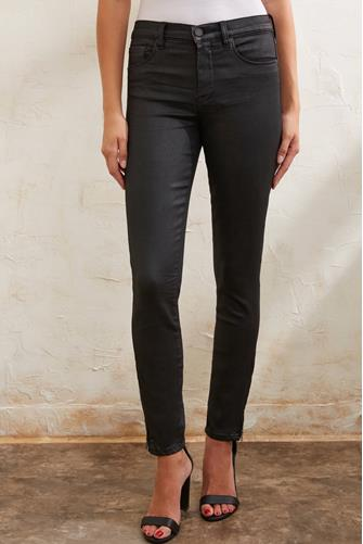 The Bond Coated Hi Rise Skinny Jean in Spartacus BLACK