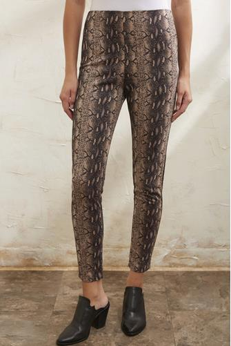 Suede Snake Skinny Pant BROWN MULTI -