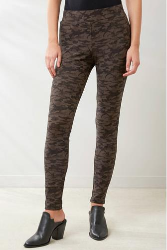 Camo Stretch Leggings OLIVE