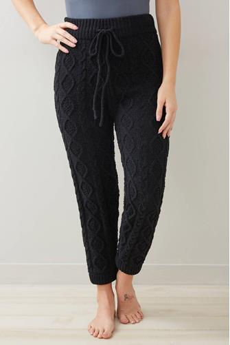 Cable Knit Lounge Pant BLACK