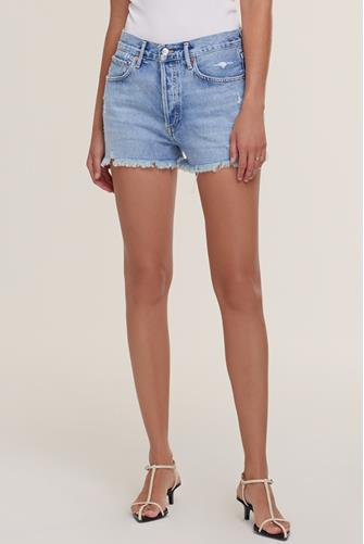 Parker Vintage Hi Rise Cut Off Denim Short in Swapmeet LIGHT DENIM -