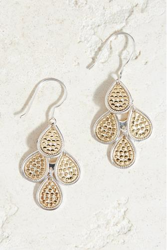 DOTTED CHANDELIER EARRING-GLD GOLD