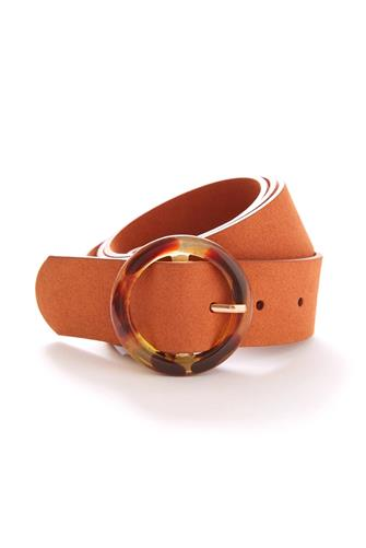Tortoise Circle Belt TAN