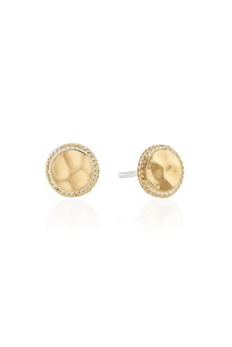 Gold Signature Hammered Stud Earrings GOLD