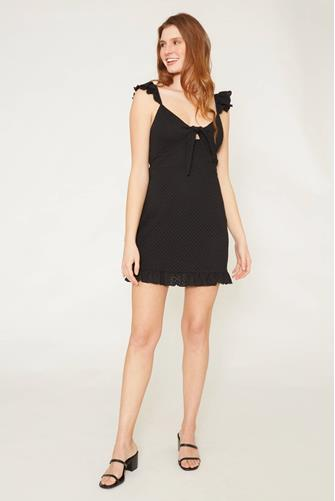 Laurel Mini Dress BLACK