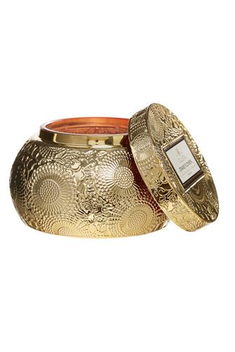 Crane Flower Chawan Bowl Candle 14 oz. GOLD