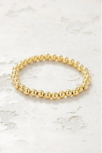 Medium Beaded Stretch Bracelet GOLD