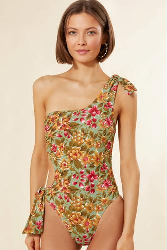 Chloe One Shoulder Floral One Piece Swimsuit MULTI