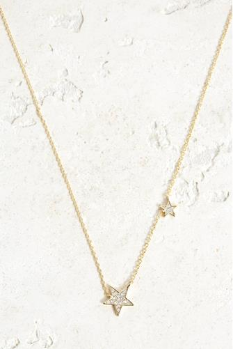 Super Star Shimmer Necklace GOLD