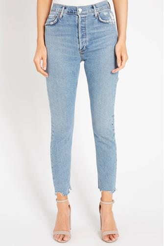 Nico Hi Rise Slim Leg Jean in Rooted MEDIUM DENIM