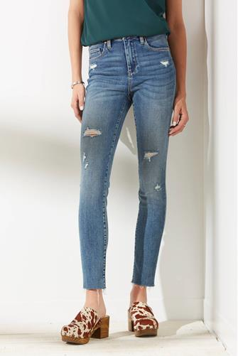 The Great Jones Hi Rise Skinny Jean in Glory Days MEDIUM DENIM