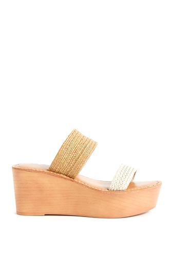 Wind Platform Wedge Sandal NATURAL
