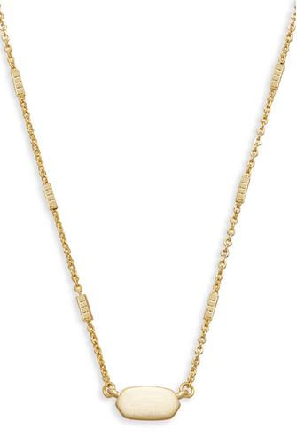 Gold Fern Pendant Necklace GOLD