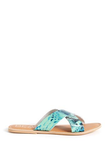 Pebble Snake Cross Slide Sandal BLUE MULTI -