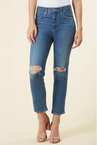724 Hi Rise Straight Leg Jean in New York Brawl MEDIUM DENIM