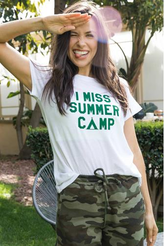 I Miss Summer Camp Loose Tee WHITE