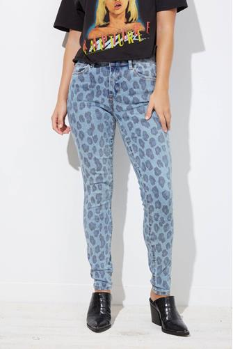 The Bond Wild Side Leopard Skinny Jean MULTI