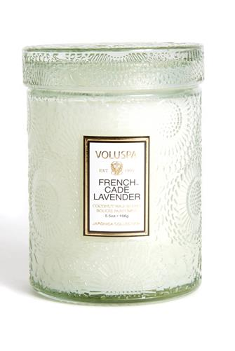 French Cade Lavender Small Jar Candle 5.5 oz. MINT GREEN