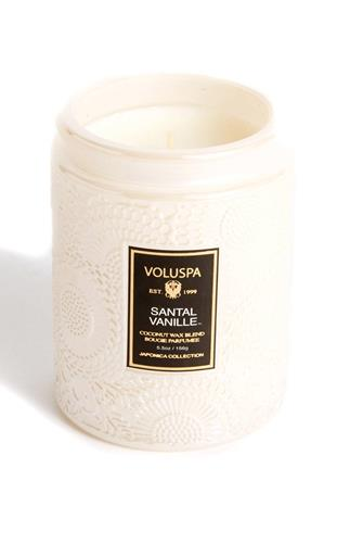Santal Vanille Small Jar Candle 5.5 oz. CHAMPAGNE