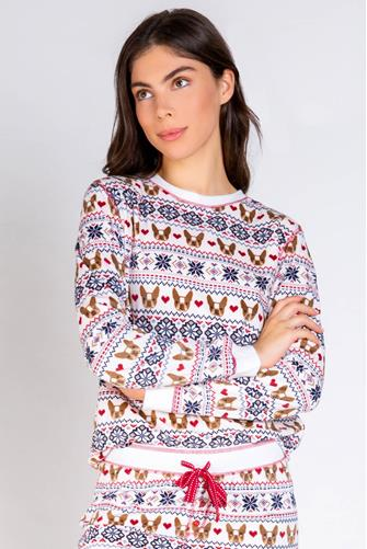 Holiday Frenchie Sweatshirt WHITE MULTI -