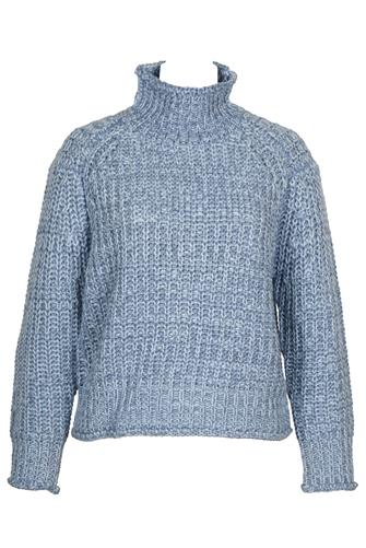 Turtleneck Marled Jumper BLUE