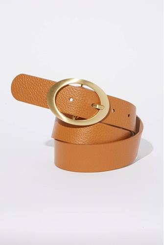 Lexi Brown & Gold Oval Belt BROWN