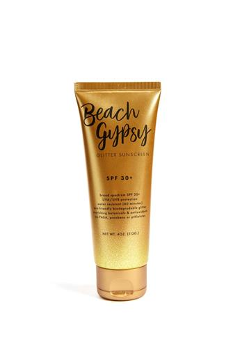 Reef Safe Beach Gypsy Glitter Sunscreen GOLD