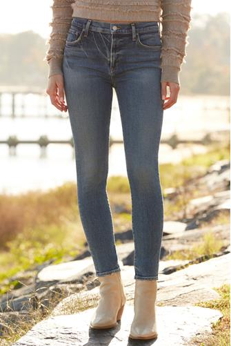 Sophie Mid Rise Skinny Ankle Jean in Speedway MEDIUM DENIM