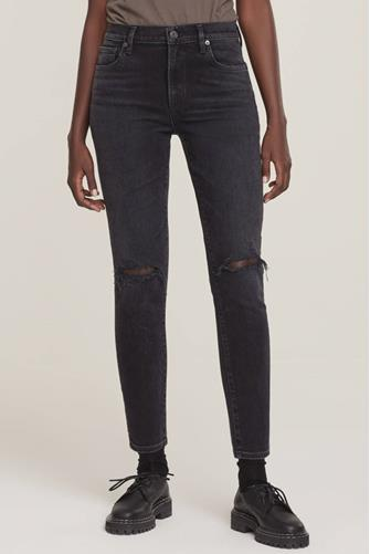 Sophie Mid Rise Ankle Skinny Jean in Trademark BLACK
