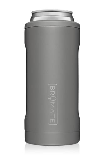 Matte Grey Hopsulator Slim Can Cooler GREY
