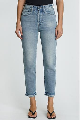 Charlie Hi Rise Straight Leg Jean in Under My Control LIGHT DENIM -