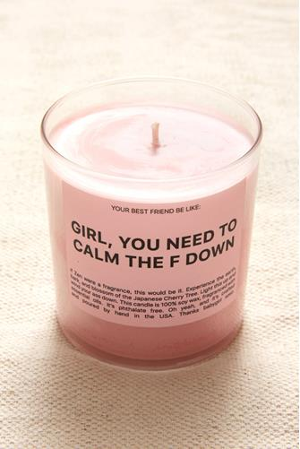 Calm The F Down Candle 9 oz. PINK