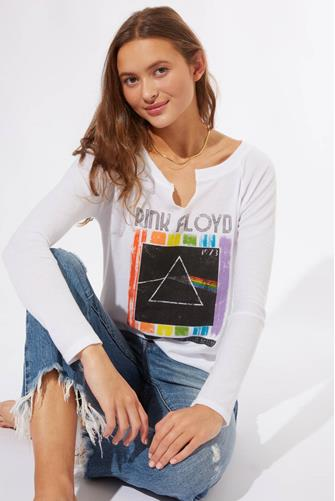 Pink Floyd Thermal Graphic Long Sleeve Tee WHITE