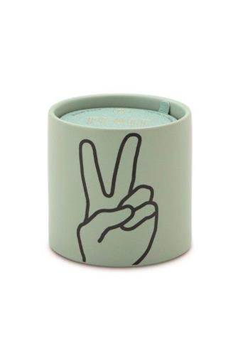 Peace Lavender & Thyme Candle 5.75 oz. MINT GREEN