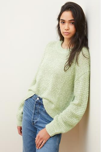 Neely Marled Pullover LITE GREEN