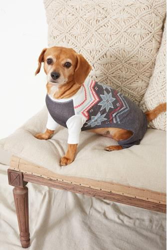 Festive Fair Isle Dog Sweater CHARCOAL