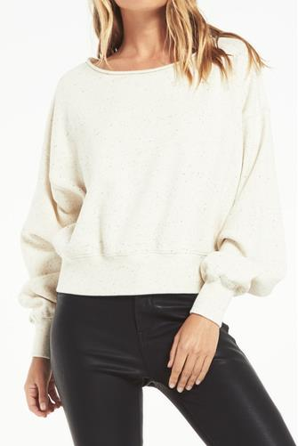 Allie Speckled Sweatshirt IVORY