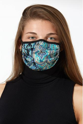 Blue Paisley Face Mask BLUE MULTI -