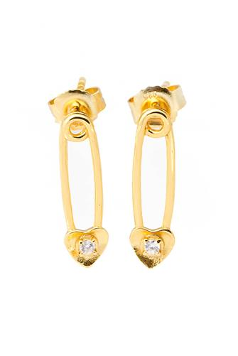 Baby Safety Pin Earrings GOLD