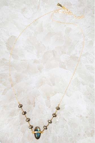 Cove Labradorite Necklace GREY MULTI -
