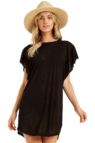 Black Out For Waves Cover Up Dress BLACK