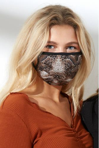Brown Animal Print Face Mask BROWN MULTI -