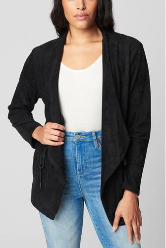 Domino Suede Jacket BLACK
