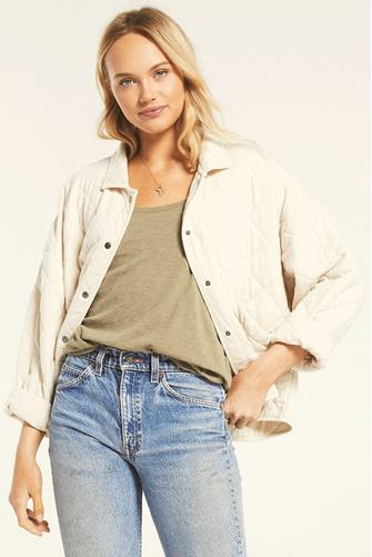 Maya Quilted Jacket OATMEAL