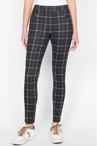 Runway Crisp Plaid Leggings MULTI